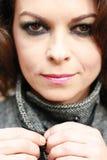 Mujer con las arrugas finas Imagen de archivo libre de regalías