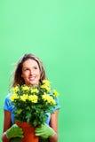 Mujer con las flores Foto de archivo