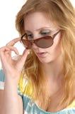 Mujer con las gafas de sol. Foto de archivo libre de regalías