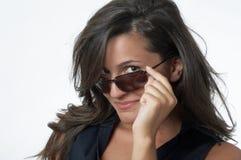 Mujer con las gafas de sol Fotografía de archivo