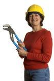 Mujer con las herramientas fotografía de archivo libre de regalías