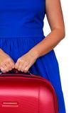 Mujer con las maletas Imagen de archivo libre de regalías