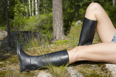 Mujer con las piernas largas Fotografía de archivo