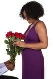 Mujer con las rosas Imágenes de archivo libres de regalías