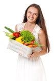 Mujer con las verduras Fotos de archivo libres de regalías