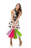 Mujer con los bolsos de compras Fotos de archivo libres de regalías