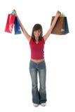 Mujer con los bolsos de compras Fotos de archivo