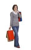 Mujer con los bolsos de compras Imágenes de archivo libres de regalías
