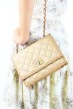Mujer con los bolsos de lujo. imagen de archivo libre de regalías