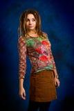 Mujer con los dreadlocks Imagen de archivo