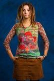 Mujer con los dreadlocks Imagen de archivo libre de regalías