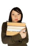 Mujer con los libros Fotografía de archivo libre de regalías