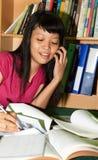Mujer con los libros Imagenes de archivo