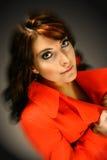 Mujer con los ojos azules Imágenes de archivo libres de regalías