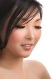 Mujer con los ojos cerrados Fotografía de archivo libre de regalías