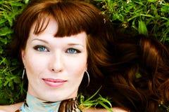 Mujer con los ojos hermosos Imagen de archivo