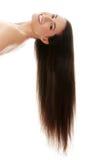 Mujer con los pelos largos Imágenes de archivo libres de regalías