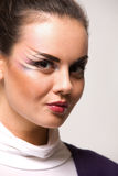 Mujer con maquillaje Fotografía de archivo