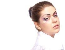 Mujer con maquillaje Fotografía de archivo libre de regalías