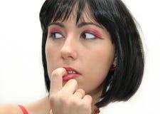 Mujer con maquillaje Foto de archivo