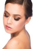 Mujer con maquillaje Imágenes de archivo libres de regalías