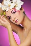 Mujer con maquillaje creativo Imagen de archivo