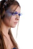 Mujer con maquillaje de la manera Imagen de archivo