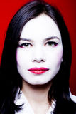Mujer con maquillaje del geisha Fotografía de archivo libre de regalías