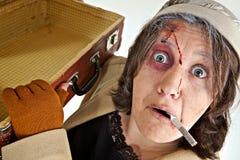 Mujer con maquillaje del teatro Imagen de archivo libre de regalías