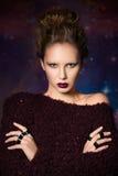 Mujer con maquillaje futurista Fotografía de archivo
