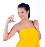 Mujer con perfume Fotografía de archivo