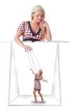 Mujer con poca marioneta Fotos de archivo