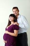 Mujer con su marido Foto de archivo libre de regalías