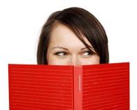 Mujer con un libro Imagenes de archivo