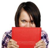 Mujer con un libro Imágenes de archivo libres de regalías