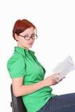 Mujer con un libro Fotos de archivo