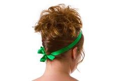 Mujer con un pelo del updo Fotos de archivo