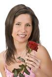 Mujer con una rosa Fotografía de archivo libre de regalías
