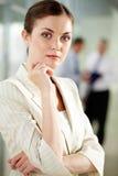 Mujer confidente Imagen de archivo libre de regalías