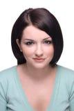 Mujer confidente en blanco Imagen de archivo libre de regalías
