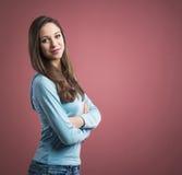 Mujer confidente joven Imagen de archivo libre de regalías
