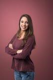 Mujer confidente joven Imágenes de archivo libres de regalías