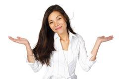 Mujer confusa Foto de archivo libre de regalías