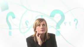 Mujer confusa almacen de video