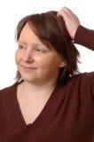Mujer confusa Imagenes de archivo