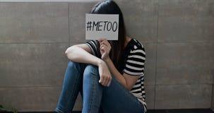 Mujer contra el acoso sexual foto de archivo libre de regalías