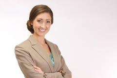Mujer corporativa acertada Imagen de archivo
