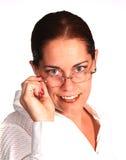 Mujer corporativa sonriente Imagen de archivo libre de regalías