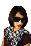 Mujer corta del asiático del pelo negro Fotografía de archivo libre de regalías
