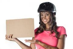 Mujer cubierta Fotografía de archivo libre de regalías